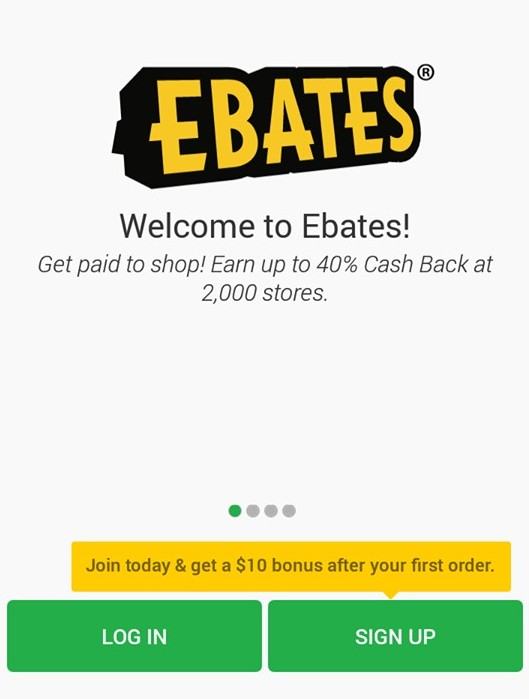 sign up for ebates